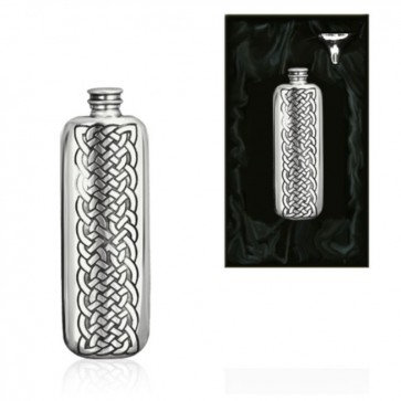 3oz Celtic Oblong Pewter Hip Flask Perfume Sample