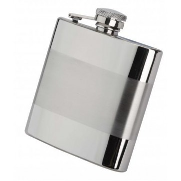 4oz Derwent Satin stainless steel Hip Flask Perfume Sample