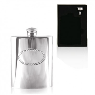 6oz Badge English Pewter Hip Flask Perfume Sample