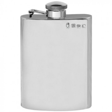 6oz Captive English Pewter Hip Flask Perfume Sample