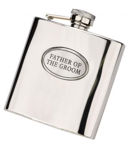 6oz 'Father of the Groom' Stainless Steel Hip Flask