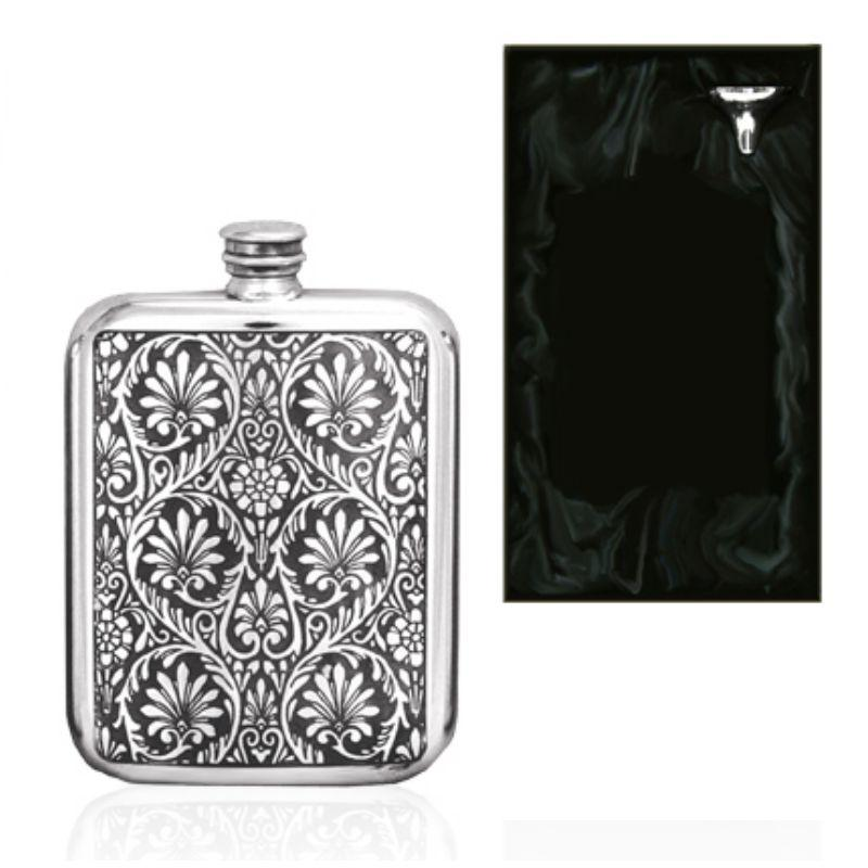 6oz Indian Purse English Pewter Hip Flask