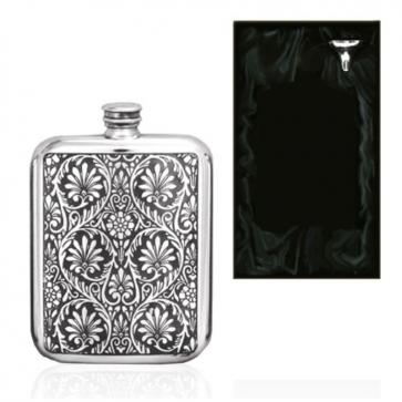 6oz Indian Purse English Pewter Hip Flask Perfume Sample