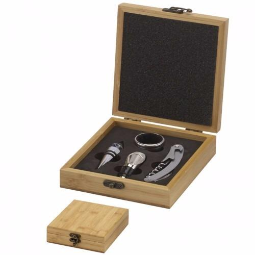Bamboo 3 piece Wine Gift Set