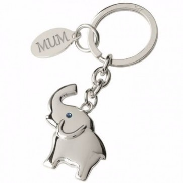Beautiful Elephant Silver Plated Keyring Perfume Sample