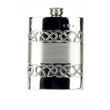 Celtic Love Band 6oz Piper Pewter Hip Flask Perfume Sample