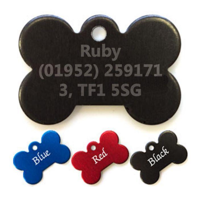 Coloured Bone Pet Tags