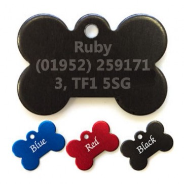 Coloured Bone Pet Tags Perfume Sample