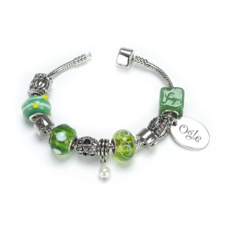 Emerald Bracelet by Ogle - Silver Plated