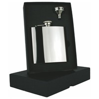 Engraved Stainless Steel High Finish Hip Flask Captive Lid 6oz Personalised Free Gift Box
