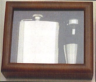Engraved Stainless Steel Hip Flask Captive Lid 6oz Wooden Gift Box & Cups