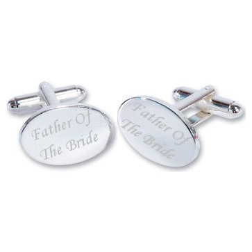 Father Of The Bride Wedding Silver Plated Oval Cufflinks High Quality Perfume Sample