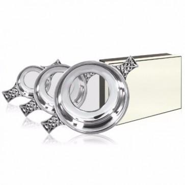 "Glass Bottom Pipe Pewter Quaich - 2.5"" Perfume Sample"