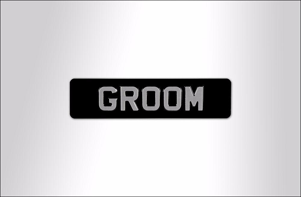 Groom Embossed Sign -  Aluminium