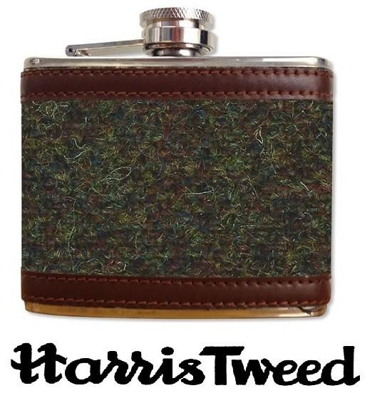 Harris Tweed Stainless Steel Hipflask 4oz