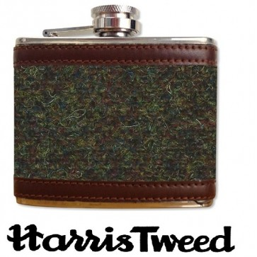 Harris Tweed Stainless Steel Hipflask 4oz Perfume Sample