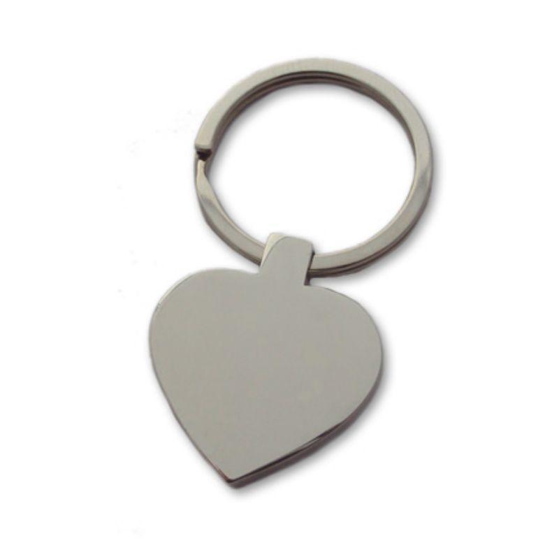 Heart Engraved Keyring -  Stainless Steel