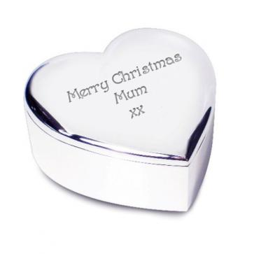 Heart Shaped Trinket Box -  Silver Plated Perfume Sample