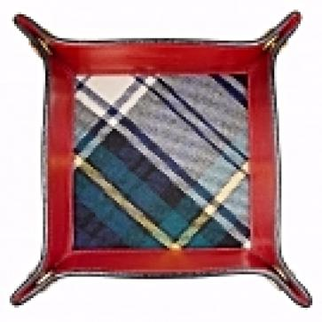 Leather Tartan Valet Tray Perfume Sample