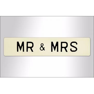 Loving Couple Embossed Sign - Aluminium Perfume Sample