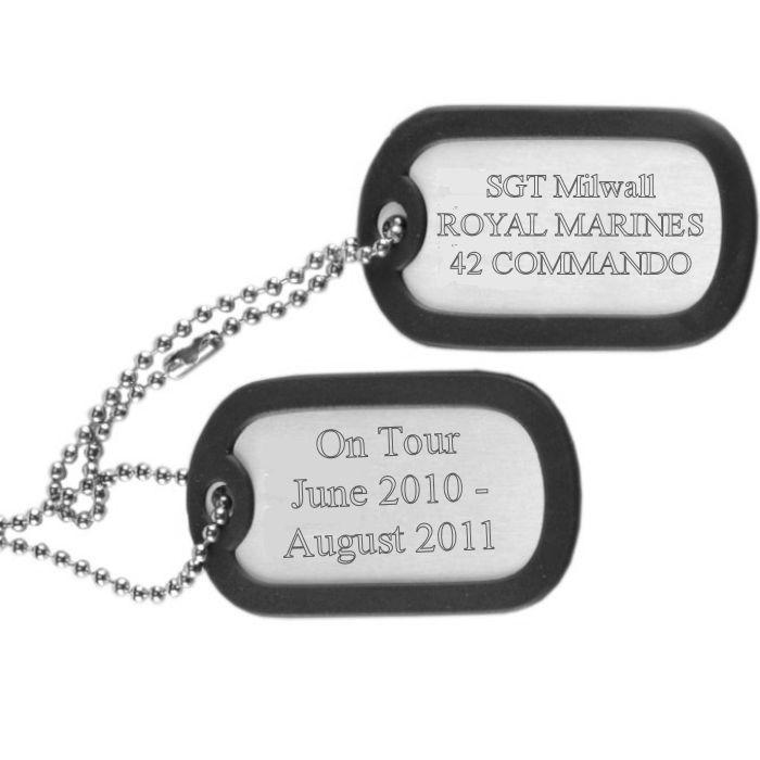 Military Army Dog Tags - Stainless Steel