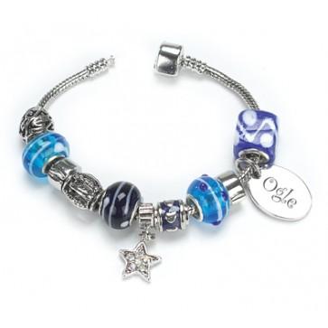 OGLE Bracelet Indigo Personalised Free Silver Plated Perfume Sample