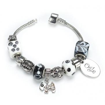 OGLE Style Bracelet Ebony Personalised Free - Silver Plated Perfume Sample