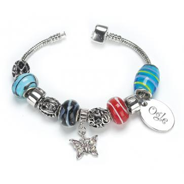 OGLE Style Silver Plated Bracelet Rainbow Personalised Free Perfume Sample
