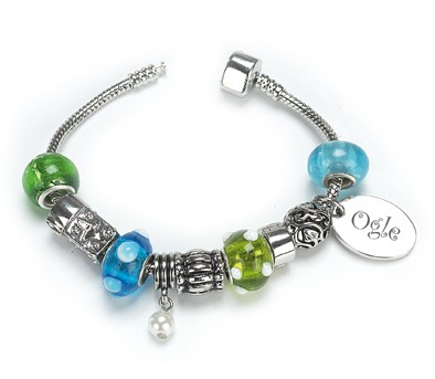 OGLE Style Silver Plated Bracelet Sapphire Personalised Free