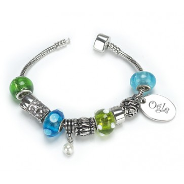 OGLE Style Silver Plated Bracelet Sapphire Personalised Free Perfume Sample