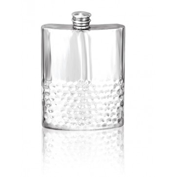 Personalised 6oz English Pewter Hip Flask SF101 Perfume Sample