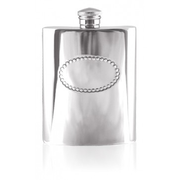 Personalised 6oz English Pewter Hip Flask SF572 Perfume Sample