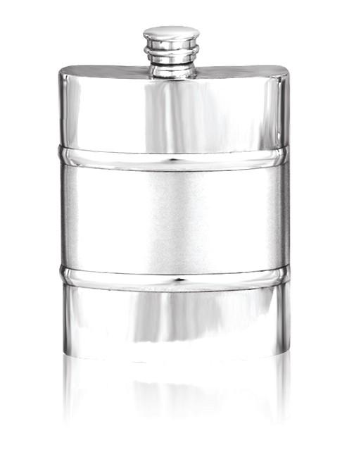 Personalised 6oz Hip Flask English Pewter SF551/552