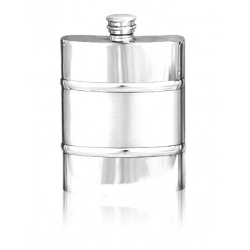 Personalised 6oz Hip Flask English Pewter SF551/552 Perfume Sample
