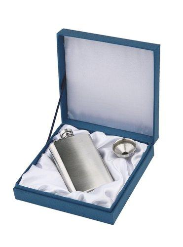 Personalised Brushed Stainless Steel Hipflask
