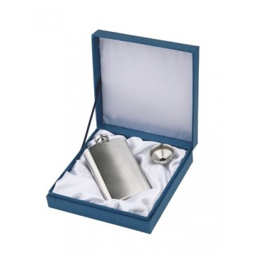 Personalised Brushed Stainless Steel Hipflask Perfume Sample