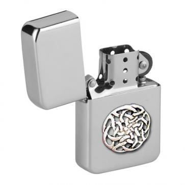 Personalised Celtic Knot Wind Proof Storm Petrol Lighter Engraved Free Perfume Sample
