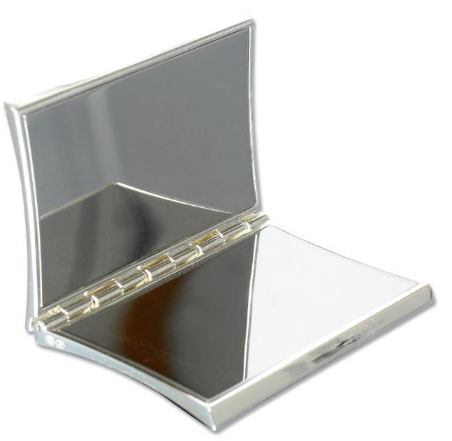 Personalised Concave Silver Plated Handbag Mirror