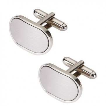 Personalised Curved Oblong Cufflinks Silver Perfume Sample