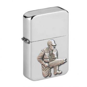 Personalised Fisherman Wind Proof Storm Petrol Lighter Engraved Free Perfume Sample
