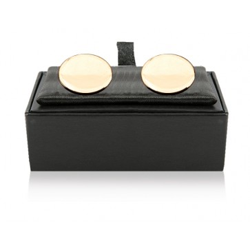 Personalised Gold Plated Oval Cufflinks Perfume Sample