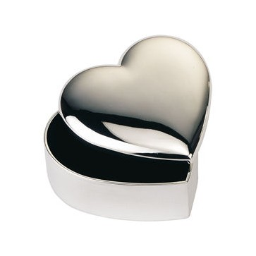Personalised Heart Trinket Box Silver Plated Perfume Sample