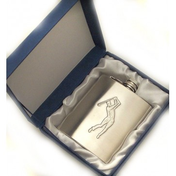 Personalised Hip Flask 6oz Golf Perfume Sample