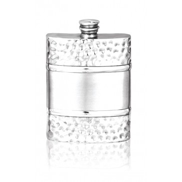 Personalised Hip Flask English Pewter 6oz Perfume Sample