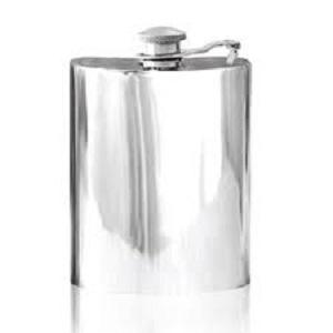 Personalised Hip Flask English Pewter Captive Lid SF503/502