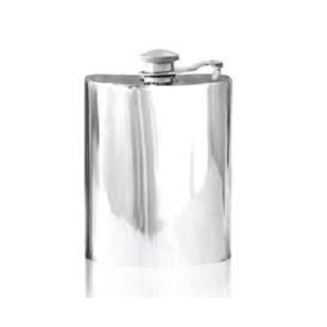 Personalised Hip Flask English Pewter Captive Lid SF503/502 Perfume Sample