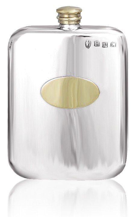 Personalised Hip Flask English Pewter TSF674/673
