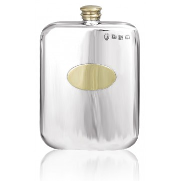 Personalised Hip Flask English Pewter TSF674/673 Perfume Sample