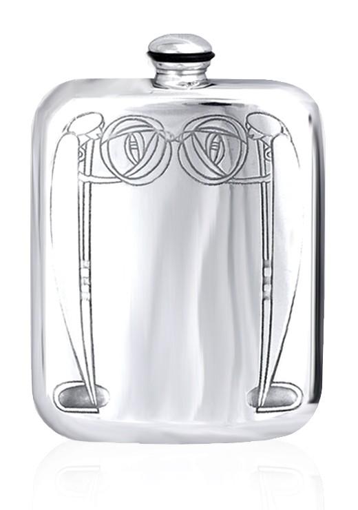 Personalised Mackintosh 6oz English Pewter Hip Flask