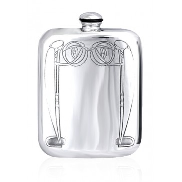 Personalised Mackintosh 6oz English Pewter Hip Flask Perfume Sample